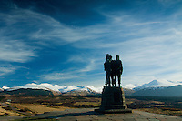 The Commando Memorial above Spean Bridge, Lochaber