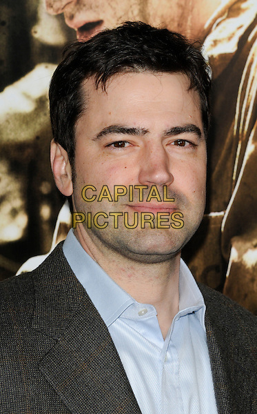 "RON LIVINGSTON.The Los Angeles premiere of HBO's new miniseries event ""The Pacific"" at Grauman's Chinese Theatre in Hollywood, California.  .February 24th, 2010.headshot portrait blue grey gray.CAP/ROT.©Lee Roth/Capital Pictures"