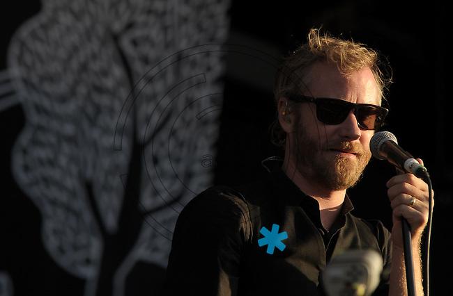 Highfield-Festival 2011 am Störmthaler See. im Bild: The National, Sänger Matt Berninger.  Foto: Alexander Bley