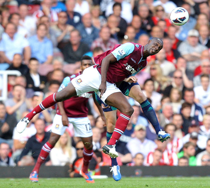West Ham United's Carlton Cole in action during todays match  ..Football - Barclays Premiership - West Ham United v Sunderland - Saturday 22nd September 2012 - Boleyn Ground - London..