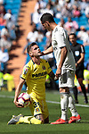 Real Madrid's Lucas Vazquez and Villarreal CF's Quintilla during La Liga match between Real Madrid and Villarreal CF at Santiago Bernabeu Stadium in Madrid, Spain. May 05, 2019. (ALTERPHOTOS/A. Perez Meca)