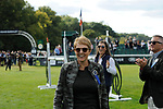 Stamford, Lincolnshire, United Kingdom, 8th September 2019, Owner Jane Clarke after winning the 2019 Land Rover Burghley Horse Trials, Credit: Jonathan Clarke/JPC Images