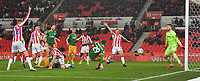 Preston North End's Tom Barkhuizen scores his team's second goal<br /> <br /> Photographer Dave Howarth/CameraSport<br /> <br /> The EFL Sky Bet Championship - Stoke City v Preston North End - Wednesday 12th February 2020 - bet365 Stadium - Stoke-on-Trent <br /> <br /> World Copyright © 2020 CameraSport. All rights reserved. 43 Linden Ave. Countesthorpe. Leicester. England. LE8 5PG - Tel: +44 (0) 116 277 4147 - admin@camerasport.com - www.camerasport.com