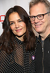 """Katie Holmes and Peter Hedges attends MCC Theater's Inaugural All-Star  """"Let's Play! Celebrity Game Night"""" at the Garage on November 03, 2019 in New York City."""
