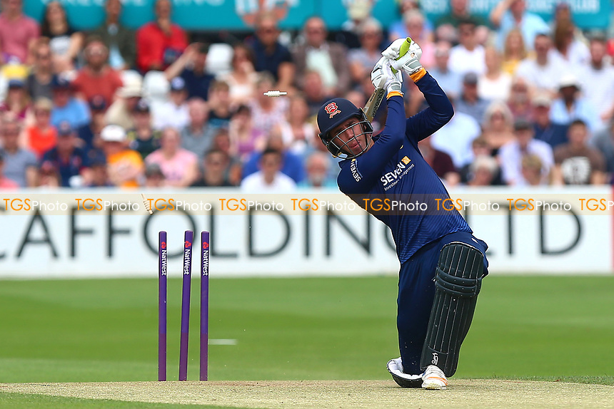 Daniel Lawrence of Essex is bowled out by Michael Hogan during Essex Eagles vs Glamorgan, NatWest T20 Blast Cricket at The Cloudfm County Ground on 16th July 2017