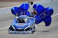 Mar. 31, 2012; Las Vegas, NV, USA: NHRA funny car driver Robert Hight during qualifying for the Summitracing.com Nationals at The Strip in Las Vegas. Mandatory Credit: Mark J. Rebilas-US PRESSWIRE