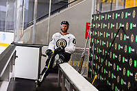 September 15, 2017: Boston Bruins forward Colton Hargrove (78) gets a break during the Boston Bruins training camp held at Warrior Ice Arena in Brighton, Massachusetts. Eric Canha/CSM