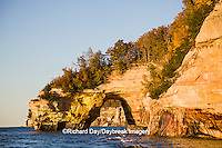 64745-00212 Pictured Rocks National Lakeshore in fall from Lake Superior near Munising MI