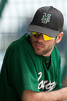 22 May 2009: Jean Baptiste Couton of Montigny is seen in the dugout during the 2009 challenge de France, a tournament with the best French baseball teams - all eight elite league clubs - to determine a spot in the European Cup next year, at Montpellier, France.