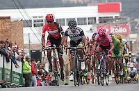 TUNJA - COLOMBIA- 21- 02-2016: Jose Cayetano Sarmiento durante la prueba ruta categoría Elite hombres con recorrido entre las ciudades de Sogamoso y Tunja en una distancia 174,6 km kilometros de Los Campeonato Nacionales de Ciclismo 2016, que se realizan en Boyaca. / Jose Cayetano Sarmiento during the Elite test individual route men conducted  between the towns of Sogamoso and Tunja at a distance of 174,6 km of the National Cycling Championships 2016 performed in Boyaca. / Photo: VizzorImage / Cesar Melgarejo / Cont.