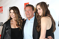 LOS ANGELES - OCT 14: Katherine Schwarzenegger, Arnold Schwarzenegger, Christina Schwarzenegger at the premiere of Saban Films' 'Killing Gunther' at the TCL Chinese Theatres on October 14, 2017 in Los Angeles, CA