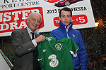 Cillian Curran who won a signed Jersey at the Launch of the Monster Car Draw in aid of the Gary Kelly Centre at Smiths Garage....Photo NEWSFILE/Jenny Matthews.
