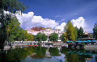 Potala Palace, home of the Dalai Lama, capital city of Lhasa Tibet China