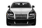 Car photography straight front view of a 2018 Rollsroyce Ghost - 4 Door Sedan Front View