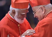Cardinal Joseph Coutts, Pope Francis leads a consistory for the creation of five new cardinals  at St Peter's basilica in Vatican on  June 28, 2018