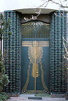 Peter Behrens: Behrens House, Darmstadt, 1901. Detail of door.