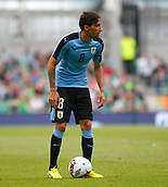 June 4th 2017, Aviva Stadium, Dublin, Ireland; International football friendly, Republic of Ireland versus Uruguay; Jonathan Urretaviscaya stands over the ball to take a free-kick for Uruguay