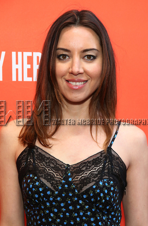 """Aubrey Plaza attending the Broadway Opening Night Performance of  """"Lobby Hero"""" at The Hayes Theatre on March 26, 2018 in New York City."""