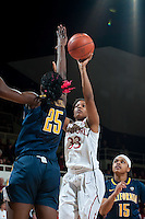 STANFORD, CA-JANUARY 28, 2011: Amber Orrange makes two points early during a 74-71 overtime win over the Cal Bears.