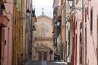 Europe/France/Provence-Alpes-Côte d'Azur/Alpes-Maritimes/Menton: Europe/France/Provence-Alpes-Côte d'Azur/Alpes-Maritimes/Menton: Vieille ville - Rue du Bréha et Couvent des Capucins :: //  Europe/France/Provence-Alpes-Côte d'Azur/Alpes-Maritimes/Menton:  Old Town,  breha street and  Couvent des Capucins