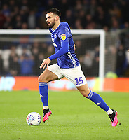 31st January 2020; Cardiff City Stadium, Cardiff, Glamorgan, Wales; English Championship Football, Cardiff City versus Reading; Marlon Pack of Cardiff City moves with the ball  - Strictly Editorial Use Only. No use with unauthorized audio, video, data, fixture lists, club/league logos or 'live' services. Online in-match use limited to 120 images, no video emulation. No use in betting, games or single club/league/player publications