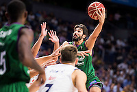 Real Madrid's player XXX and Unicaja Malaga's player Dani Diez during match of Liga Endesa at Barclaycard Center in Madrid. September 30, Spain. 2016. (ALTERPHOTOS/BorjaB.Hojas) /NORTEPHOTO