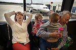 Overwhelmed by frustration at a long flight delay, as well as by the prospect of transporting two small children all the way to Anchorage, Maggie closed her eyes and tried to calm herself down. Her grandfather had been given special permission by the airport to come to the gate with her to help her care for Memphis and Kayden. After a flight delay that lasted several hours, they were told the flight had been cancelled and were sent home. They flew to Anchorage the following day.