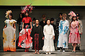 "October 19, 2016, Tokyo, Japan - Former reprosy patient Miyo Maki (C, white) and models display creations of Japanese designer Takafumi Tsuruta at the ""tenbo"" 2017 spring/summer collection as a part of Japan Fashion Week in Tokyo on Wednesday, October 19, 2016.   (Photo by Yoshio Tsunoda/AFLO) LWX -ytd-"