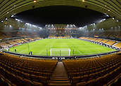 5th February 2019, Molineux Stadium, Wolverhampton, England; FA Cup football, 4th round replay, Wolverhampton Wanderers versus Shrewsbury Town; General view of the pitch and stadium from behind the goal in the stands
