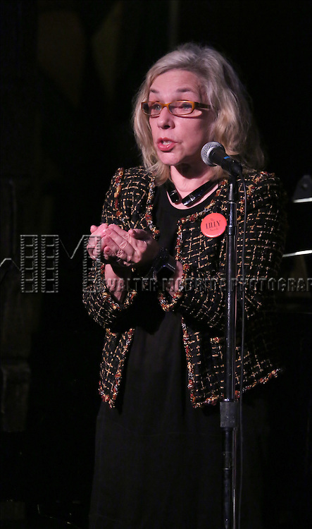 Marsha Norman performing at The Lilly Awards Broadway Cabaret at the Cutting Room on October 17, 2016 in New York City.