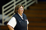 11 September 2015: Stanford assistant coach Denise Corlett. The Duke University Devils hosted the Stanford University Cardinal at Cameron Indoor Stadium in Durham, NC in a 2015 NCAA Division I Women's Volleyball contest. Stanford won the match 3-2 (17-25, 25-22, 17-25, 25-23, 10-15).