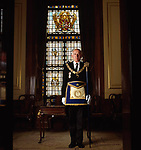 Lieutenant-Commader Norman John Nuttall R.N., Grand Tyler of the United Grand Lodge of Freemasons in England.