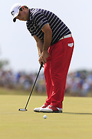 Patrick Reed (USA) takes his putt on the 6th green during Friday's Round 2 of the 117th U.S. Open Championship 2017 held at Erin Hills, Erin, Wisconsin, USA. 16th June 2017.<br /> Picture: Eoin Clarke | Golffile<br /> <br /> <br /> All photos usage must carry mandatory copyright credit (&copy; Golffile | Eoin Clarke)