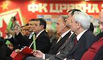 FUDBAL, BEOGRAD, 22. Dec. 2012. - Dragan Dzajic i Nebojsa Covic tokom glasanja. Sednica skupstine Crvene zvezde na kojoj je izabrano novo rukovodstvo na celu sa Draganom Dzajicem.  Foto: Nenad Negovanovic