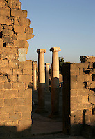 Ionic columns, Old Market, 2nd century AD, Bosra, Syria Picture by Manuel Cohen