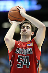 09 November 2012: Gardner-Webb's Mike Byron. The University of North Carolina Tar Heels played the Gardner-Webb University Runnin' Bulldogs at Dean E. Smith Center in Chapel Hill, North Carolina in an NCAA Division I Men's college basketball game. UNC won the game 76-59.