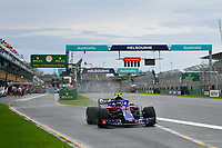 March 24, 2018: Pierre Gasly (FRA) #10 from the Red Bull Toro Rosso Honda team leaves pit lane during practice session three at the 2018 Australian Formula One Grand Prix at Albert Park, Melbourne, Australia. Photo Sydney Low