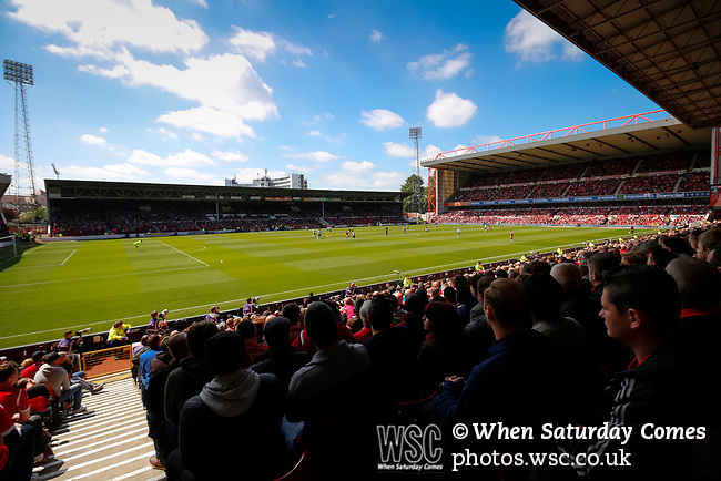 Nottingham Forest 3 Ipswich Town 0, 07/05/2017. City Ground, Championship. View from the lower tier of The Brian Clough Stand during the game between Nottingham Forest v Ipswich Town at the City Ground Nottingham in the SkyBet Championship. Photo by Paul Thompson.