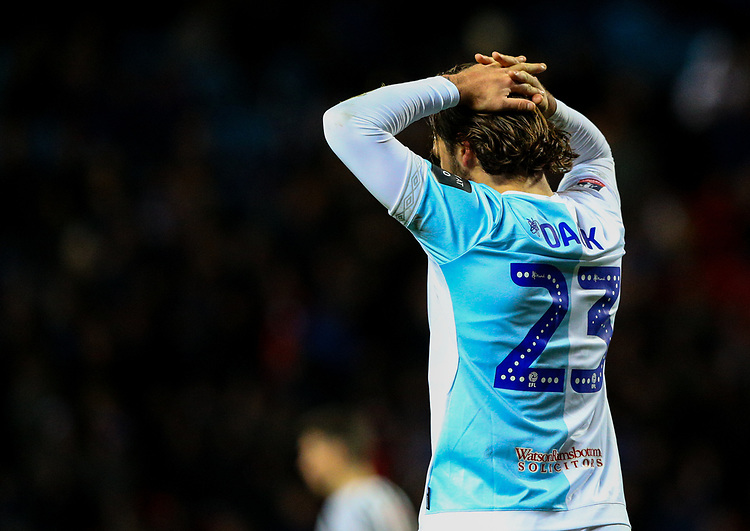 Blackburn Rovers' Bradley Dack rues a missed chance in injury time<br /> <br /> Photographer Alex Dodd/CameraSport<br /> <br /> Emirates FA Cup Third Round Replay - Blackburn Rovers v Newcastle United - Tuesday 15th January 2019 - Ewood Park - Blackburn<br />  <br /> World Copyright © 2019 CameraSport. All rights reserved. 43 Linden Ave. Countesthorpe. Leicester. England. LE8 5PG - Tel: +44 (0) 116 277 4147 - admin@camerasport.com - www.camerasport.com