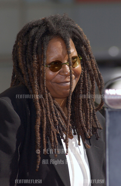 Actress WHOOPI GOLDBERG on Hollywood Blvd where she was honored with the 2,186th star on the Hollywood Walk of Fame. Today is also her 46th birthday and she was presented with a birthday cake..13NOV2001..© Paul Smith/Featureflash