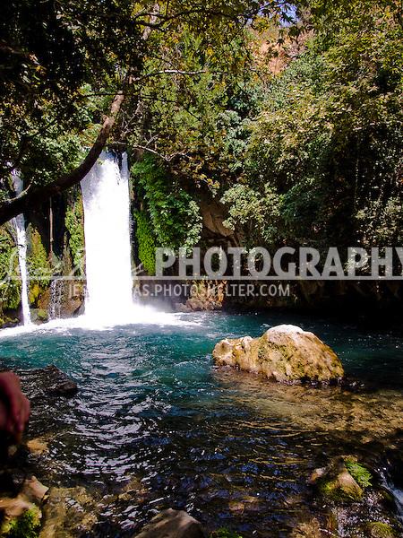 Waterfall in Israel.