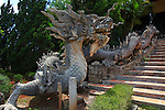 Dragon statue. Linh An Tu Pagoda, near Dalat, Vietnam. April 19, 2016.