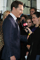 NEW YORK, NY - NOVEMBER 03: Benedict Cumberbatch<br />  at the New York Premiere of  'Dr. Seuss' The Grinch' at Alice Tully Hall, Lincoln Center on November 3, 2018 in New York City.  <br /> CAP/MPIRW<br /> &copy;RW/MPI/Capital Pictures