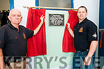 Ballybunion Sea & Cliff Rescue: TJ McCarron & Brian Mannion unveiling a placque in memory of past,  present  & deceased members of the Ballybunion Sea & Cliff Rescue at their 30th birthday at their centre on the women's beach in Ballybunion on Sunday last.