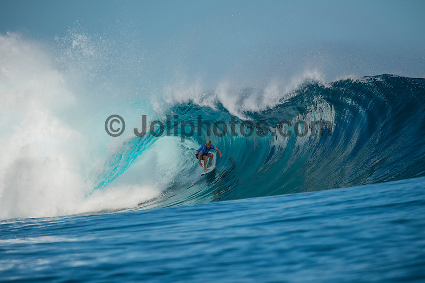 Namotu Island Resort, Nadi, Fiji (Thursday, June 16 2016):  Adrian Buchan (AUS) - The Fiji Pro, stop No. 5 of 11 on the 2016 WSL Championship Tour, was recommenced today at Cloudbreak with a consistent SSW swell in the 6'-8' range. <br /> Rounds 4 and 5 were completed in perfect conditions with a number of rides in the excellent range including two perfect 10 point rides form Gabriel Medina (BRA) and Kelly Slater (USA).<br /> The contest will wrap up tomorrow in what is shaping up as another perfect surf day.<br /> Photo: joliphotos.com