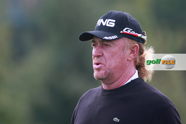 Miguel Angel Jimenez (ESP) after teeing off on the 3rd tee during Thursday's Round 1 of the Austrian Open presented by Lyoness at the Diamond Country Club, Atzenbrugg, Austria, 22nd September 2011 (Photo Eoin Clarke/www.golffile.ie)