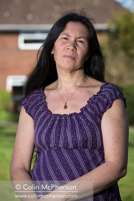 Debra Todd, an HIV sufferer, who was infected by an ex-partner who was himself a victim of the tainted blood NHS scandal, pictured at her home in Chester. Ms Todd has been informed that due to government changes, her support money is being cut. She is campaigning for the rights of people with HIV and is due to take part in a protest at Westminster on April 12, 2016 as part of the Tainted Blood, the campaign group for British haemophiliacs and others infected with HIV and Hepatitis C through contaminated blood.