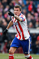 Atletico de Madrid´s croatian Mario Mandzukic celebrating a goal