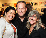 From left: Adriana Smith, Doug Parker and Diane Barber at the Draw X: Revolution! benefitting DiverseWorks Wednesday June 22,2011.(Dave Rossman/For the Chronicle)