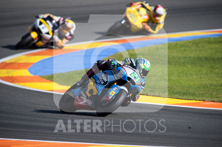 VALENCIA, SPAIN - NOVEMBER 11: Franco Morbidelli during Valencia MotoGP 2016 at Ricardo Tormo Circuit on November 11, 2016 in Valencia, Spain